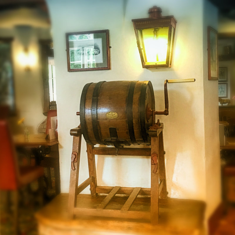 Butter churn at the virginia ash pub in Henstridge